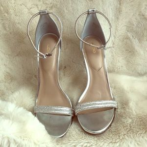 Aldo Silver Stilettos Brand New!